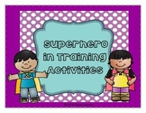 Superhero in Training Activities: All About Me Book, Desig