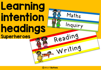 Superhero learning intention headings
