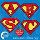 Superhero Clipart, Superhero Letters, Superhero Alphabets