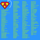 Superhero Letters with Inspirational values, Alphabet Clip