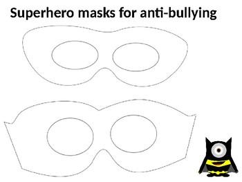 Superhero masks for anti-bullying
