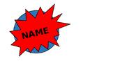 Superhero nametags - editable