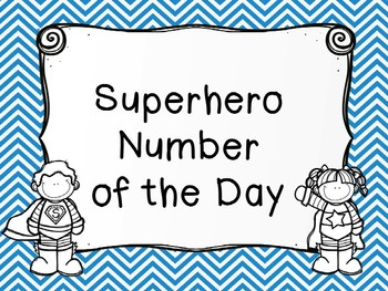 Superhero of the Day Numbers 1-10