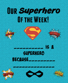 Superhero of the Week Certificate