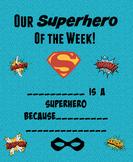 Superhero of the Week Certificate