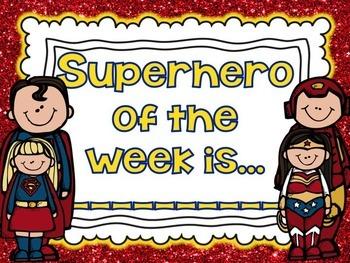 Superhero of the Week (EDITABLE)