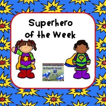 Superhero of the Week Forms