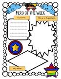 Hero of the Week Posters (Superhero Themed Star of the Week)