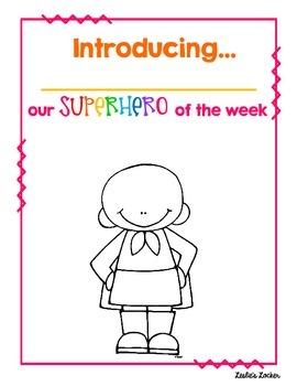 Superhero of the Week (bulletin board set)