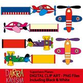 Superhero planes clip art