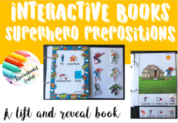 Superhero prepositions interactive book