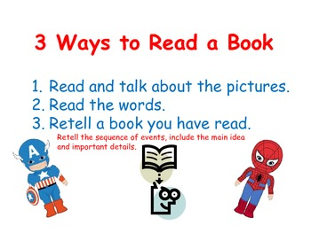 Superhero reading posters-3 Ways to Read a Book, I Pick and EEKK posters