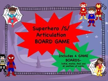 /S/ Superhero Articulation Game Boards