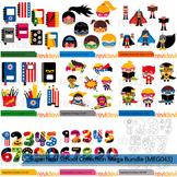 Superhero school collection clip art mega bundle (9 packs)