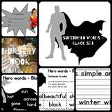 Superhero sight word program - Black set (Set 5 of 5)