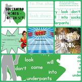 Superhero sight word program - Green set (Set 2 of 5)