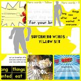 Superhero sight word program - Yellow set (Set 3 of 5)