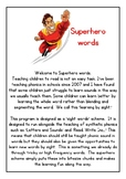 Superhero sight words Preview