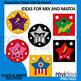Superhero stars mix and match clipart (teacher author clip art resource)