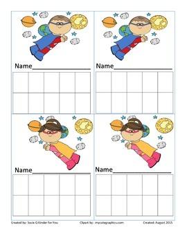 Superhero sticker chart