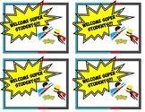 Superhero theme Welcome Postcard