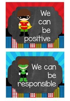Superhero theme class goals