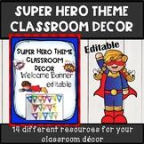 Superhero theme classroom decor welcome banner *EDITABLE*