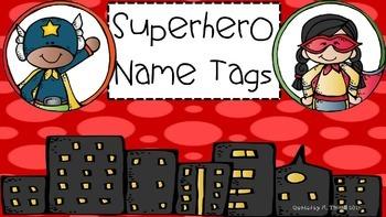 Superhero theme name plates (3 different versions)