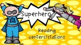 Superhero theme reading/literacy center cards