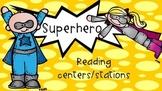 Superhero theme reading/literacy center cards