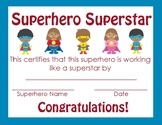Superhero themed Achievement Certificate