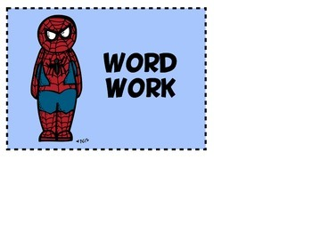 Superhero themed Daily 5 Literacy Centers Tags