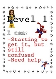 Superhero themed Levels of Understanding posters
