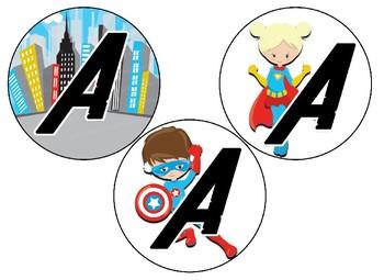 Superhero themed Word Wall or Bulletin Board Letters