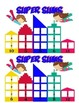 Superhero themed addition and subtraction game bundle