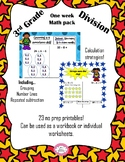 A week's worth of lessons : third grade division superhero themed