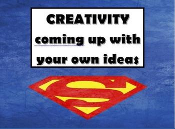 Superhero themed ib attitude words