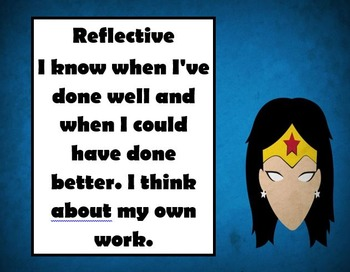 Superhero themed ib profile words