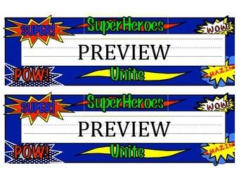 Superhero Themed Nametag