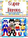 Superhero Writing Prompt word cards for IKEA TOLSBY frames