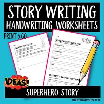 Superhero writing sheets