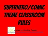Superhero/Comic Classroom Rules