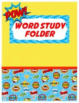 Superhero/Comic Word Study Folder Cover