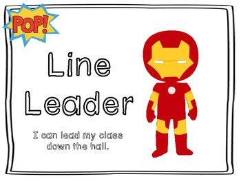 SuperheroThemed Classroom Job Posters