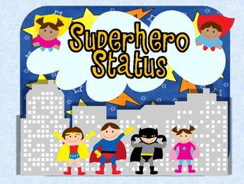 SuperheroThemed Clip Chart