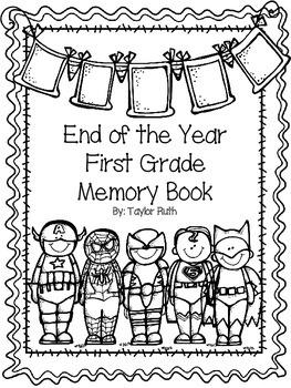 First Grade Memory Book (Superheroes)