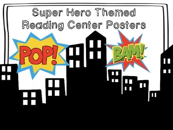 SuperheroThemed Reading Center Posters