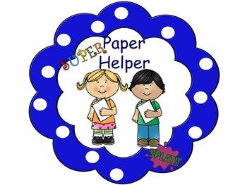 Superhero Classroom Helpers