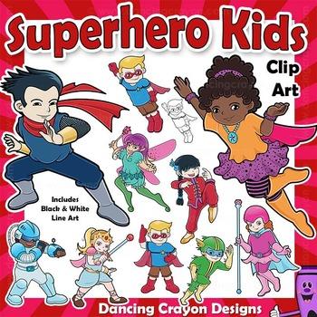 Clip Art Kids | Superhero Clipart