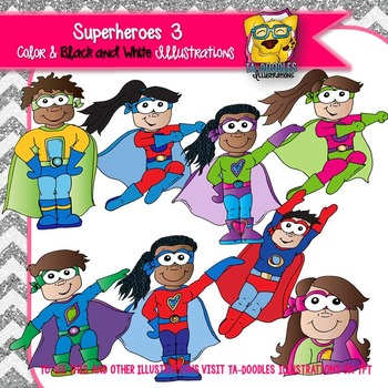 Superheroes 3 Commercial Use Clipart